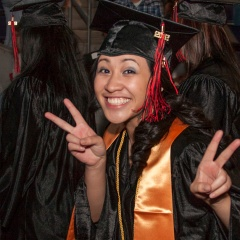 photo of graduate at GCC Commencement 2012