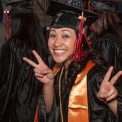 photo of graduate at GCC Commencement 2012