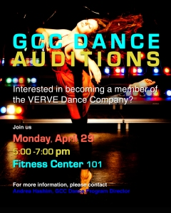 Verve dance audition poster